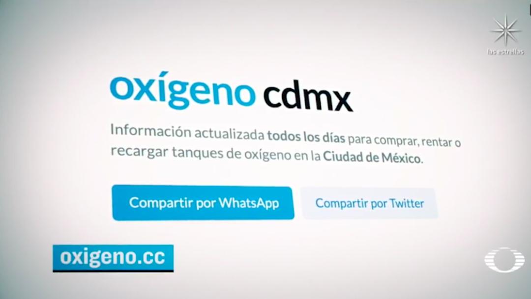 Oxígeno CDMX, iniciativa juvenil que ayuda a encontrar más rápido a proveedores confiables