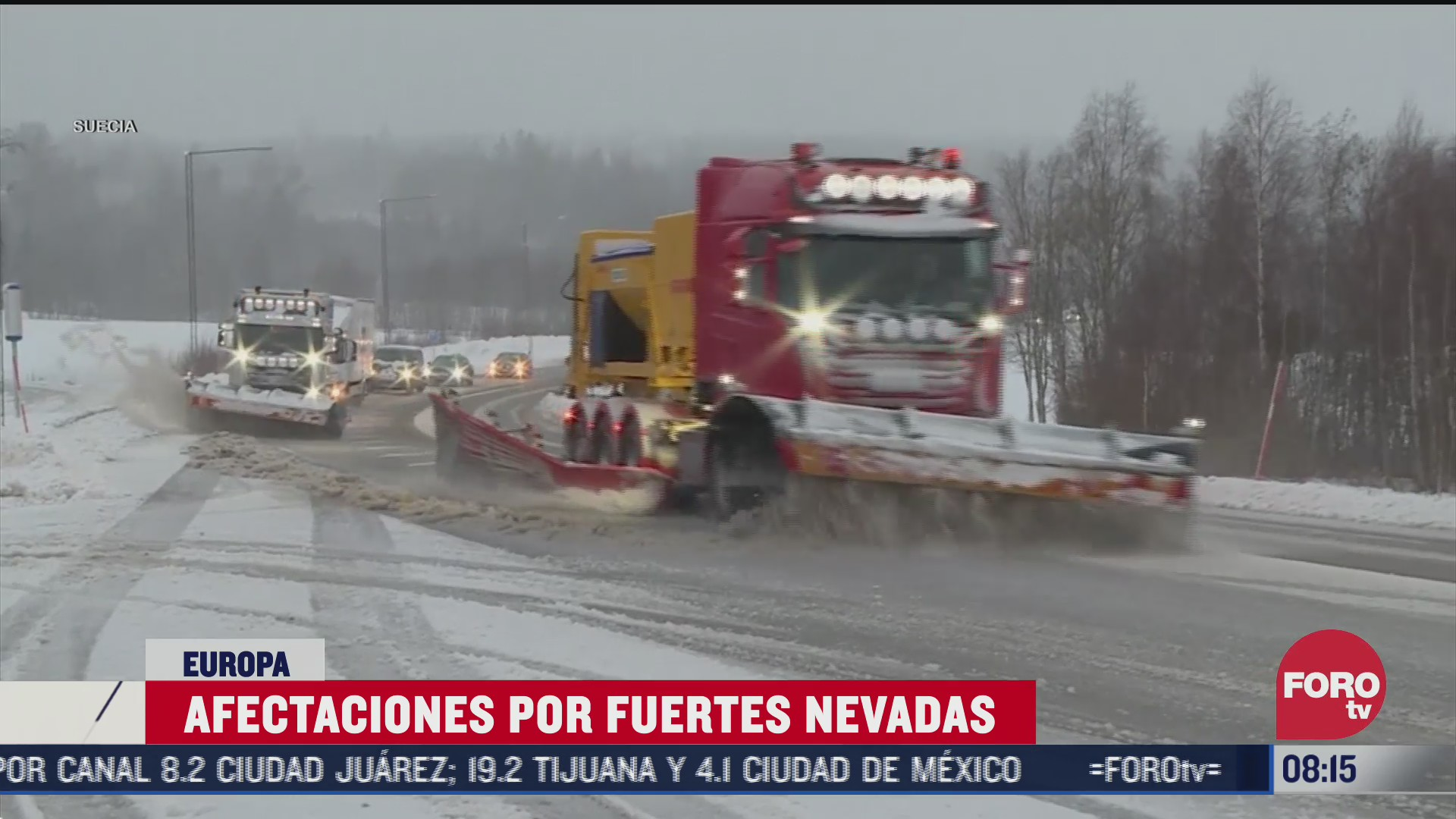 se intensifican labores de limpieza tras nevada en espana
