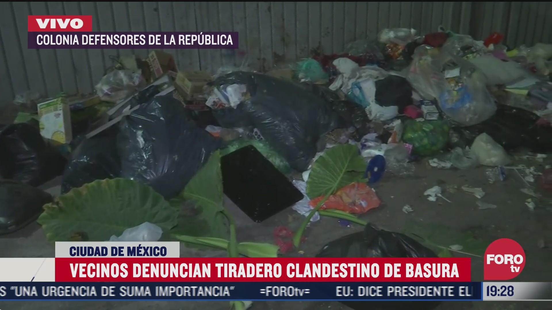 vecinos denuncian tiradero clandestino de basura en gustavo a madero