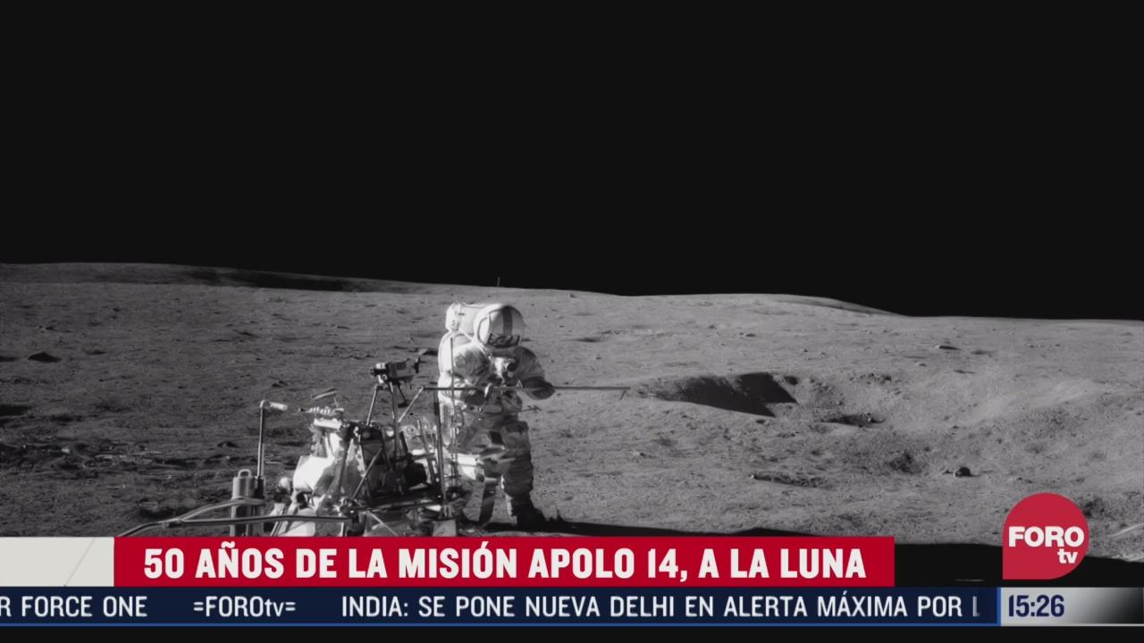 50 anos de la mision apolo 14 a la luna