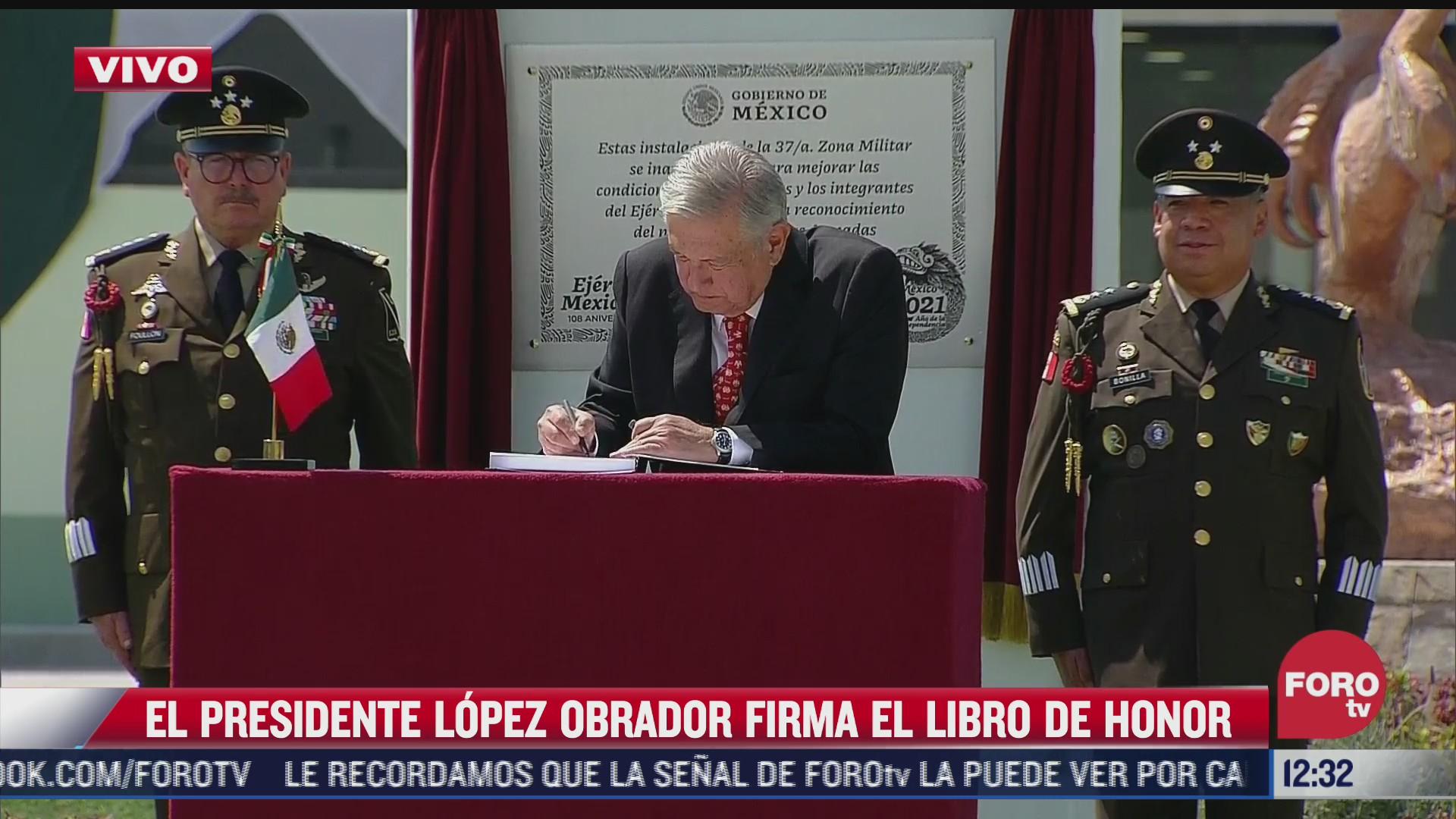 amlo inaugura libro de visitantes distinguidos en instalaciones militares de santa lucia