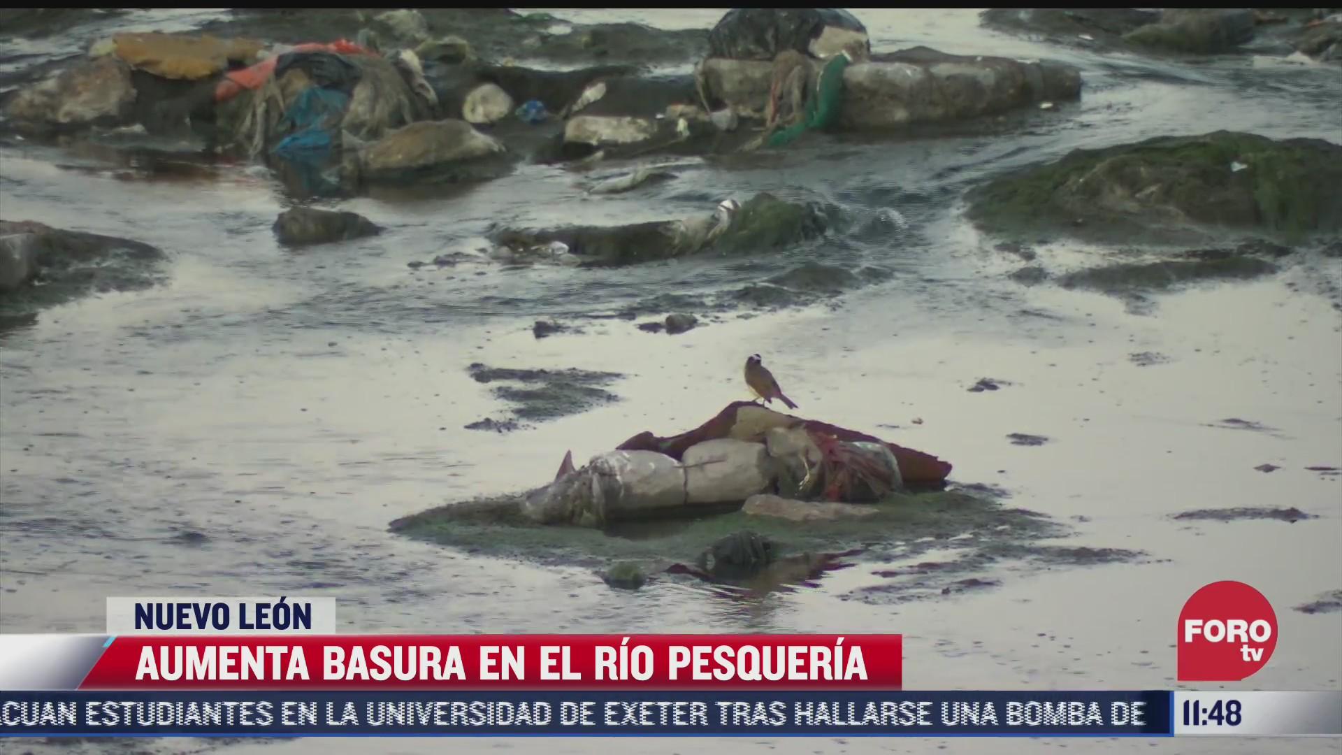 asi inunda la basura al rio pesqueria en nuevo leon
