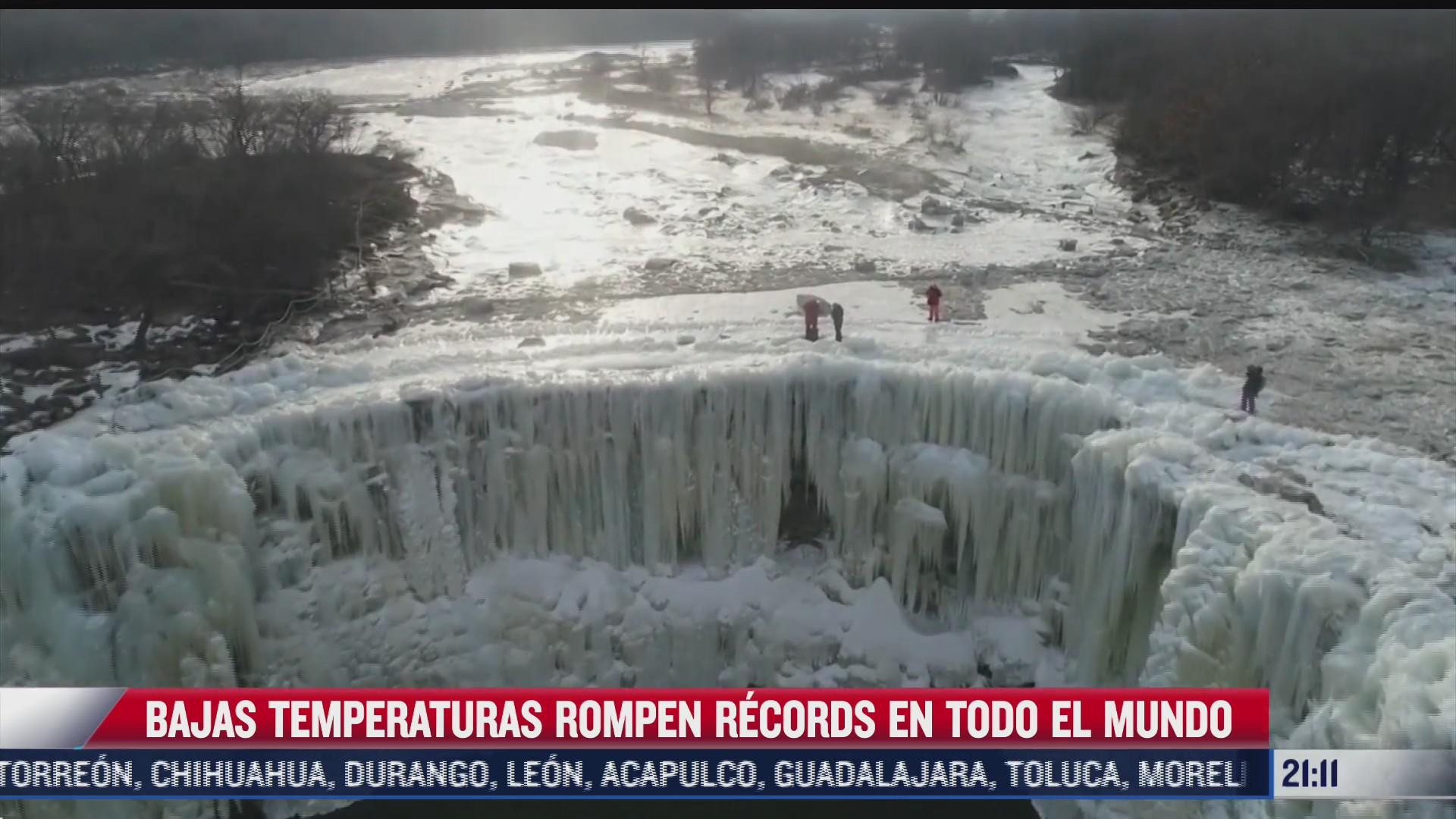 bajas temperaturas rompen record alrededor del mundo