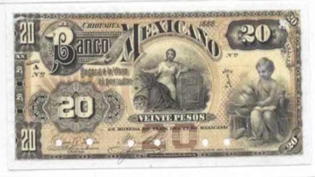 Ofertan billete de 20 pesos hasta por 48 mil en internet