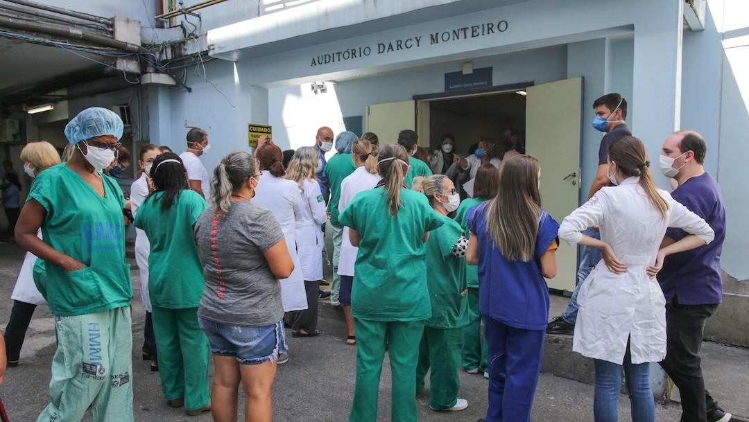 Trabajadores de la salud en Río de Janeiro, Brasil (Getty Images)