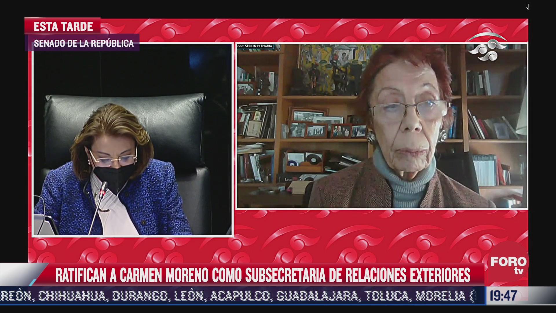 carmen moreno toscano nueva subsecretaria de relaciones exteriores