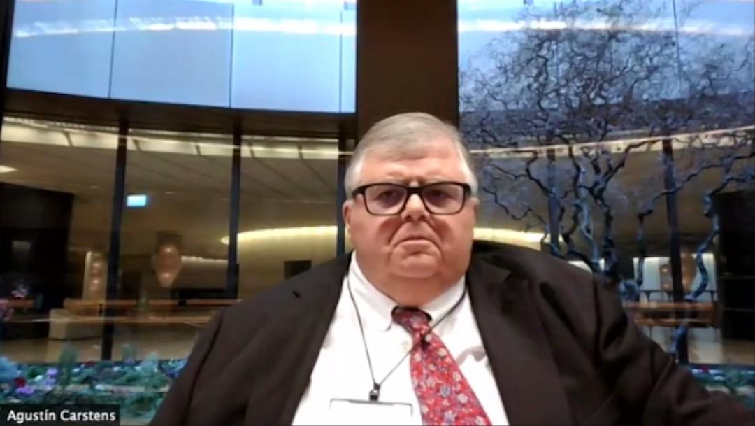 El gerente general del Banco de Pagos Internacionales (BIS, por su sigla en inglés), Agustín Carstens (Twitter: @jfcalderon)