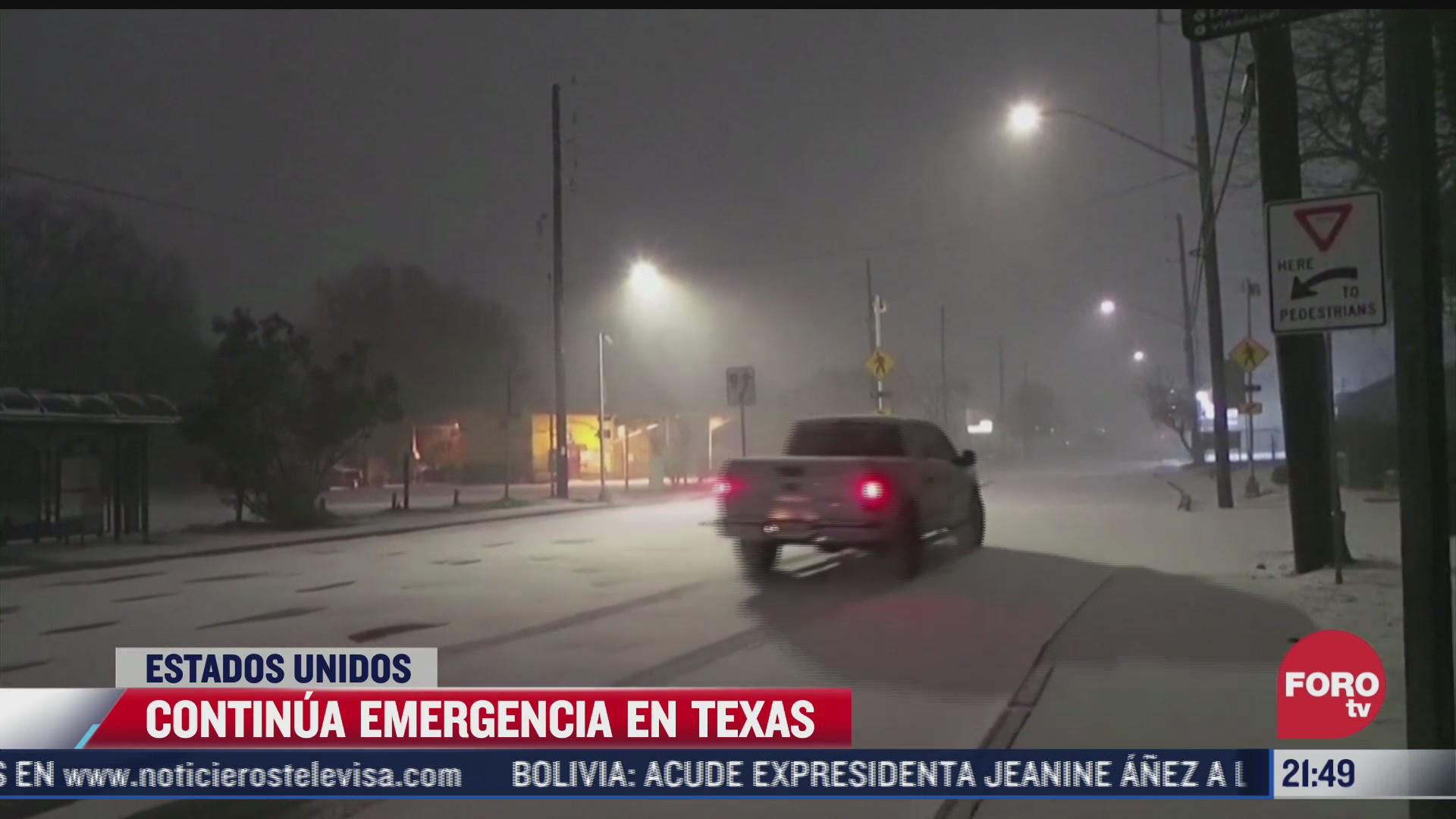 continua emergencia en texas por tormenta invernal