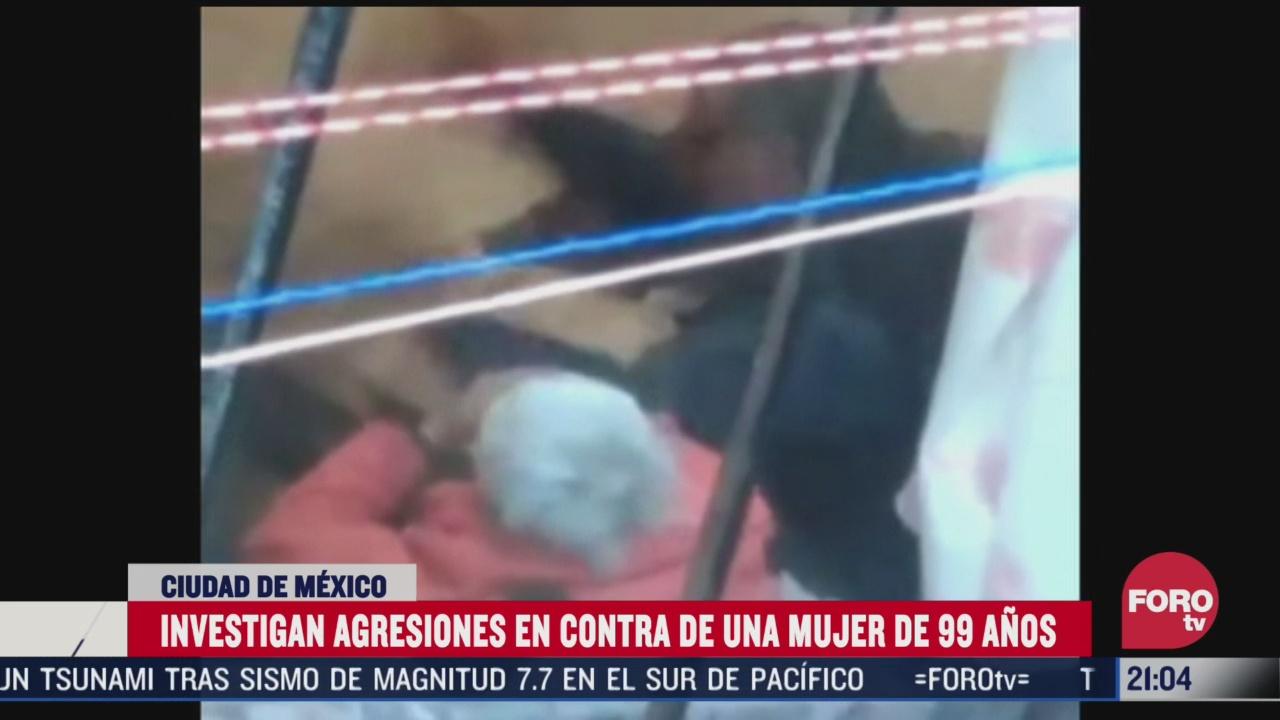 denuncian agresiones contra senora de 99 anos