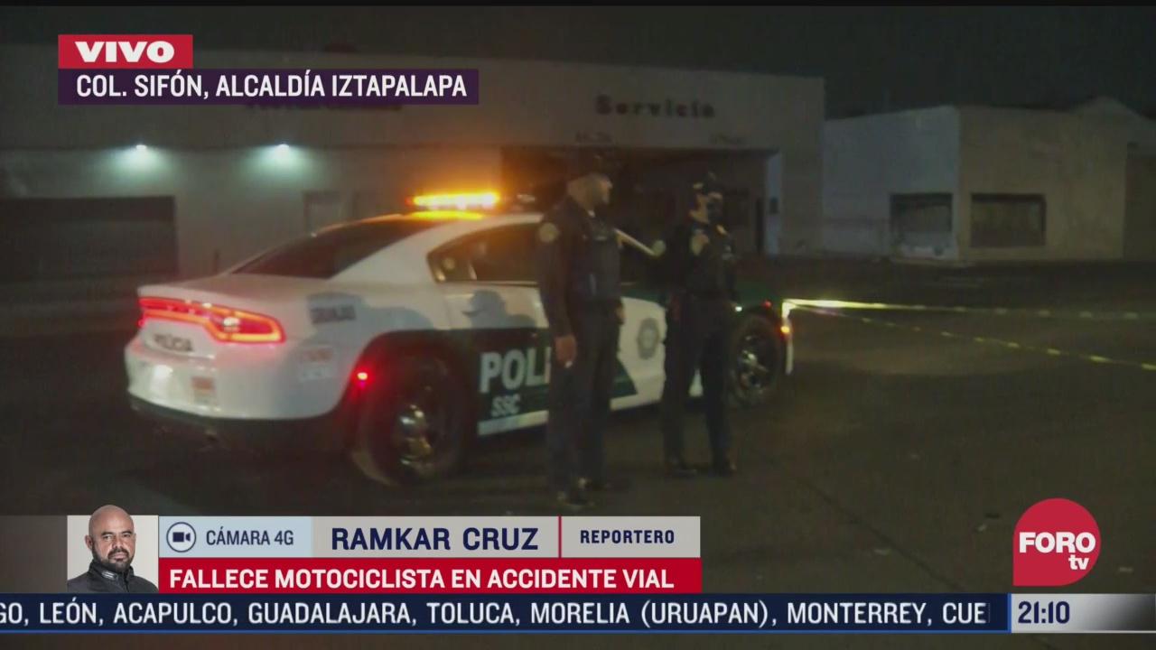 fallece motociclista en accidente vial en la colonia sifon