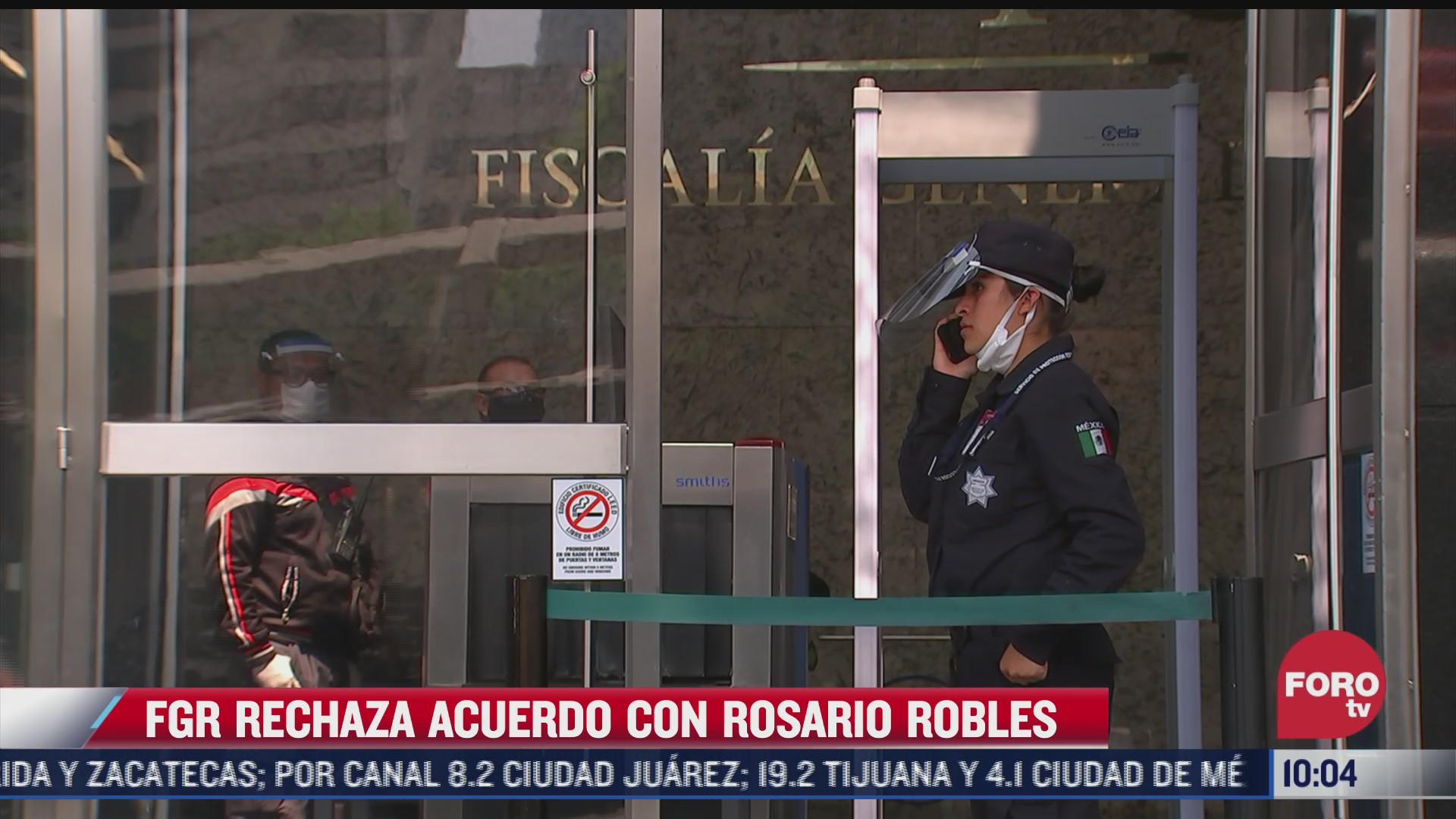 fgr rechaza llegar a un acuerdo con rosario robles