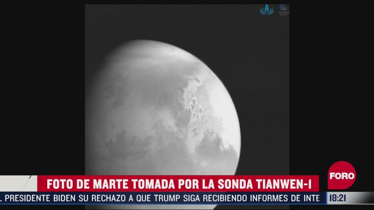 foto de marte tomada por la sonda tianwen