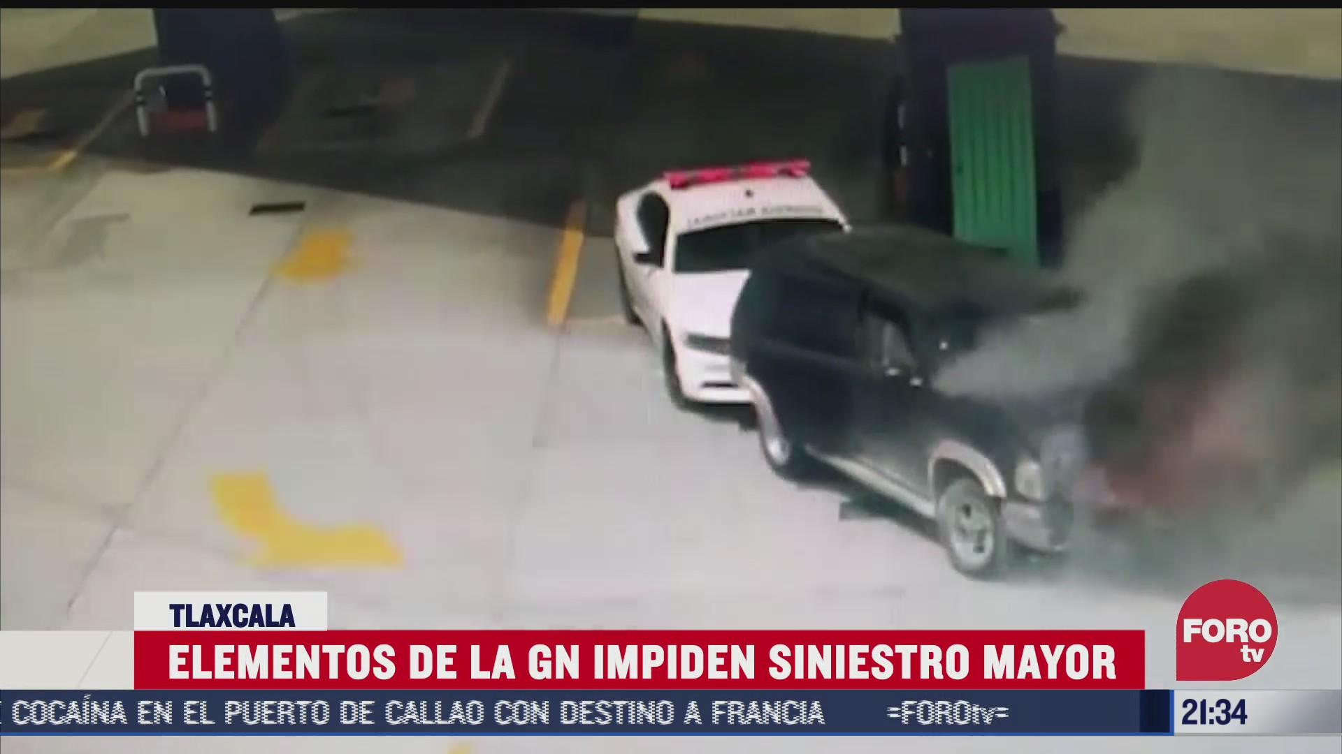 guardia nacional evita explosion en gasolineria