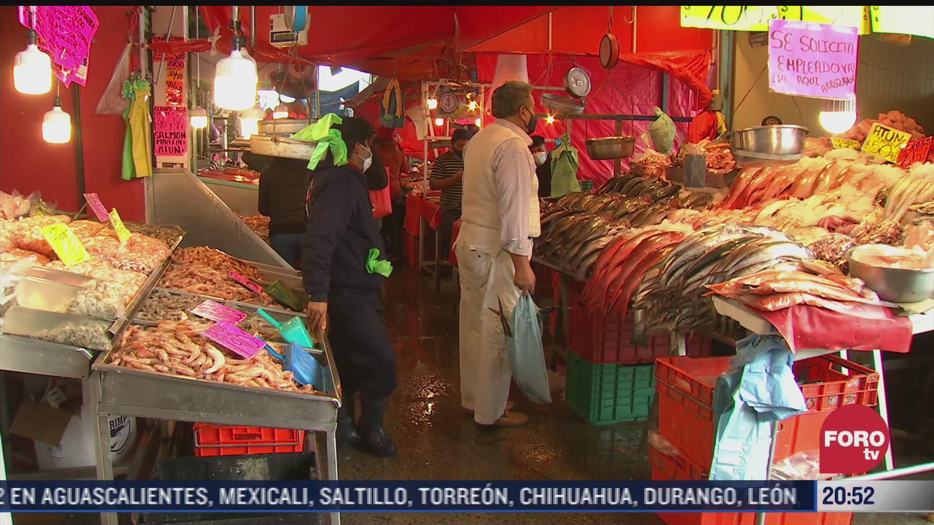 implementan medidas sanitarias en mercado de la nueva viga por cuaresma