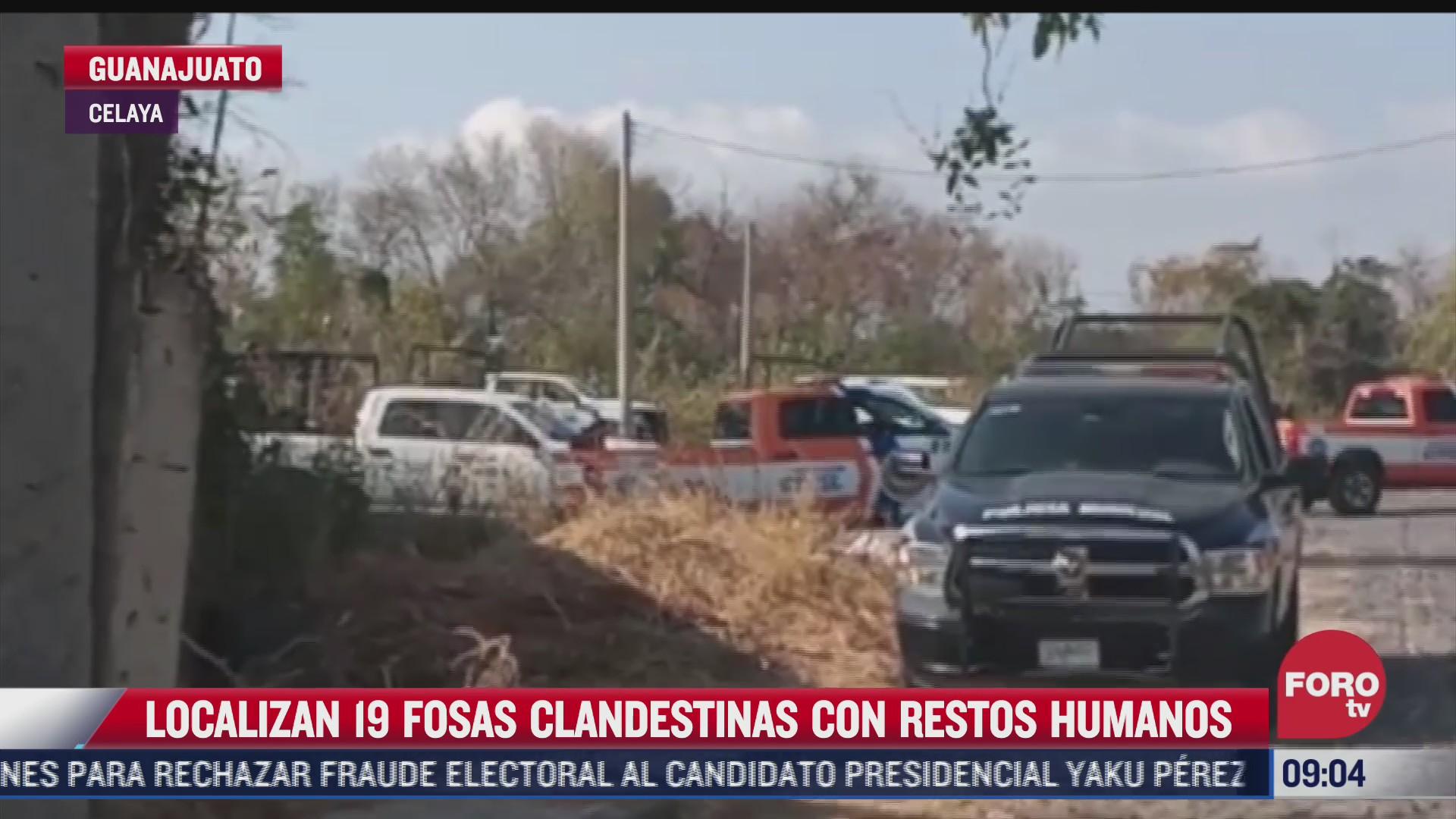 localizan 19 fosas clandestinas en celaya guanajuato