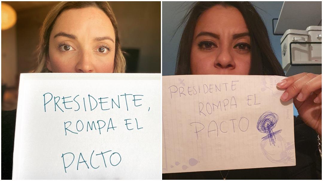 Protesta de mujeres con Presidente Rompa el Pacto en contra de candidatura de Félix Salgado Macedonio