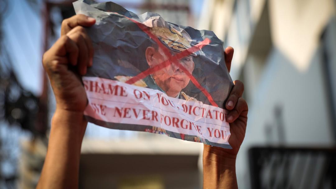 Protestas Golpe Estado Myanmar Foto
