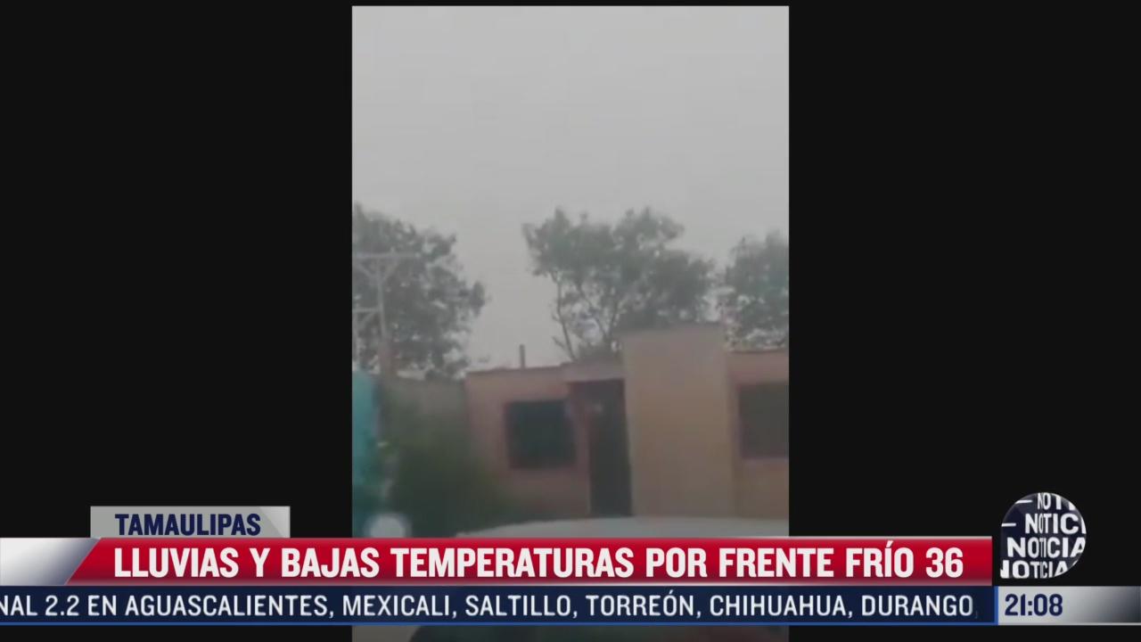 nevadas en tamaulipas y nuevo leon por frente frio