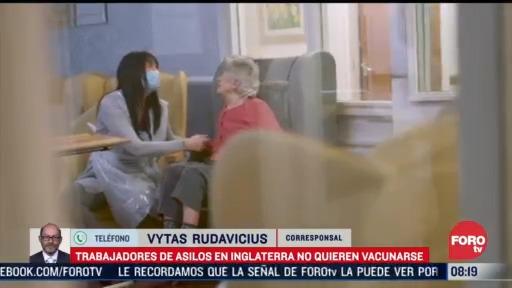 personal que trabaja en asilos se niega a recibir vacuna contra covid 19 en inglaterra