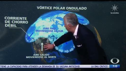 que provoca las historicas nevadas en varias partes del planeta
