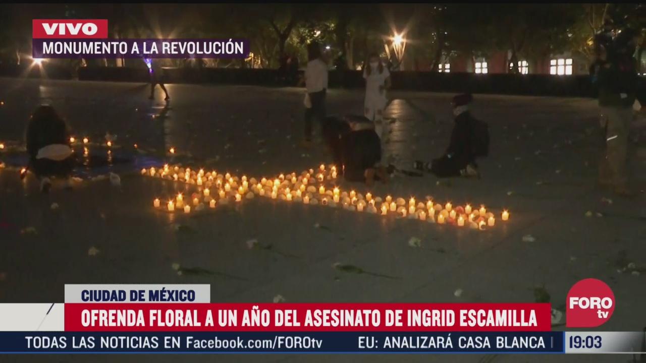 realizan ofrenda floral a un ano del feminicidio de ingrid escamilla