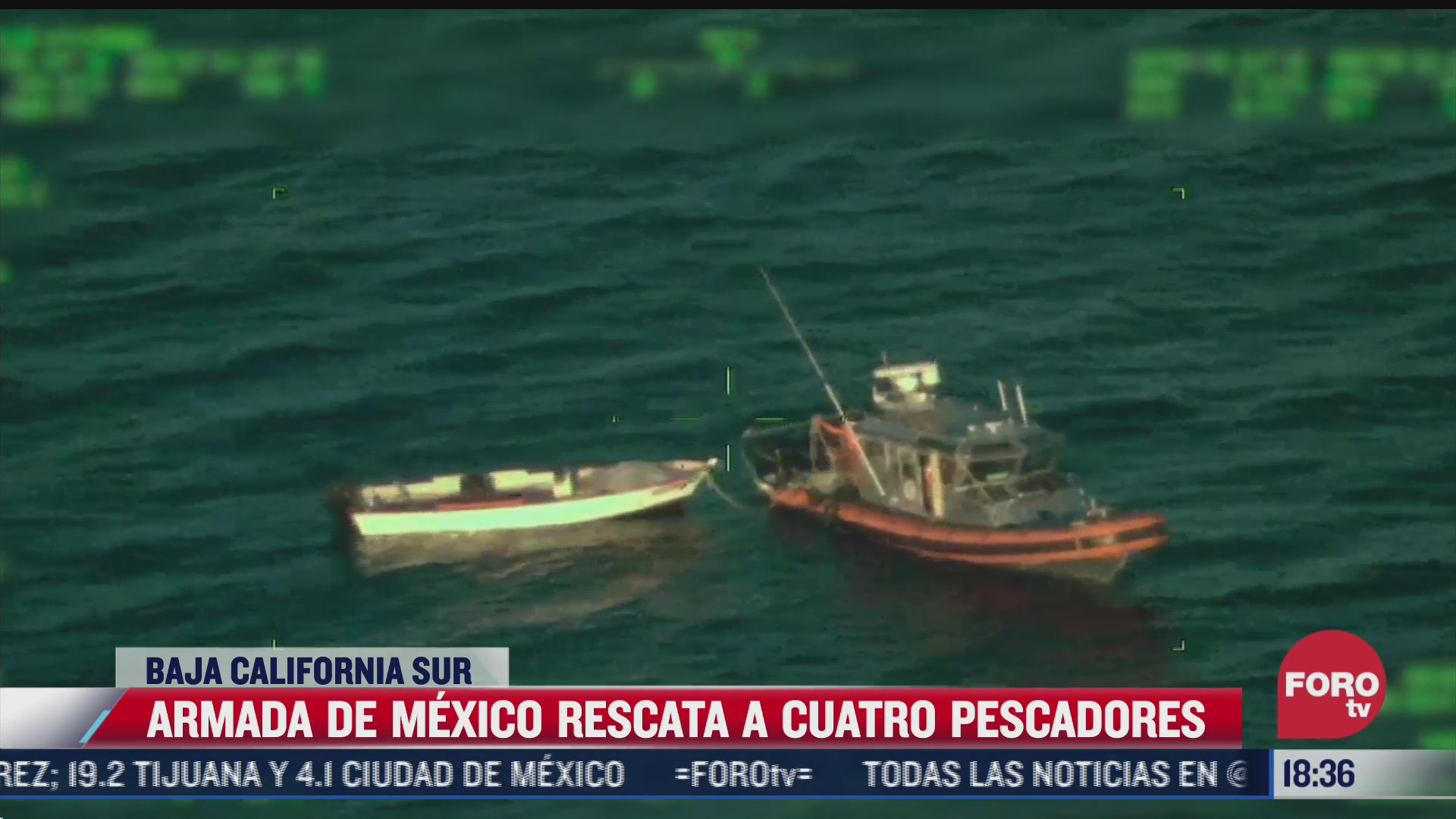 rescatan a cuatro pescadores naufragos en baja california sur