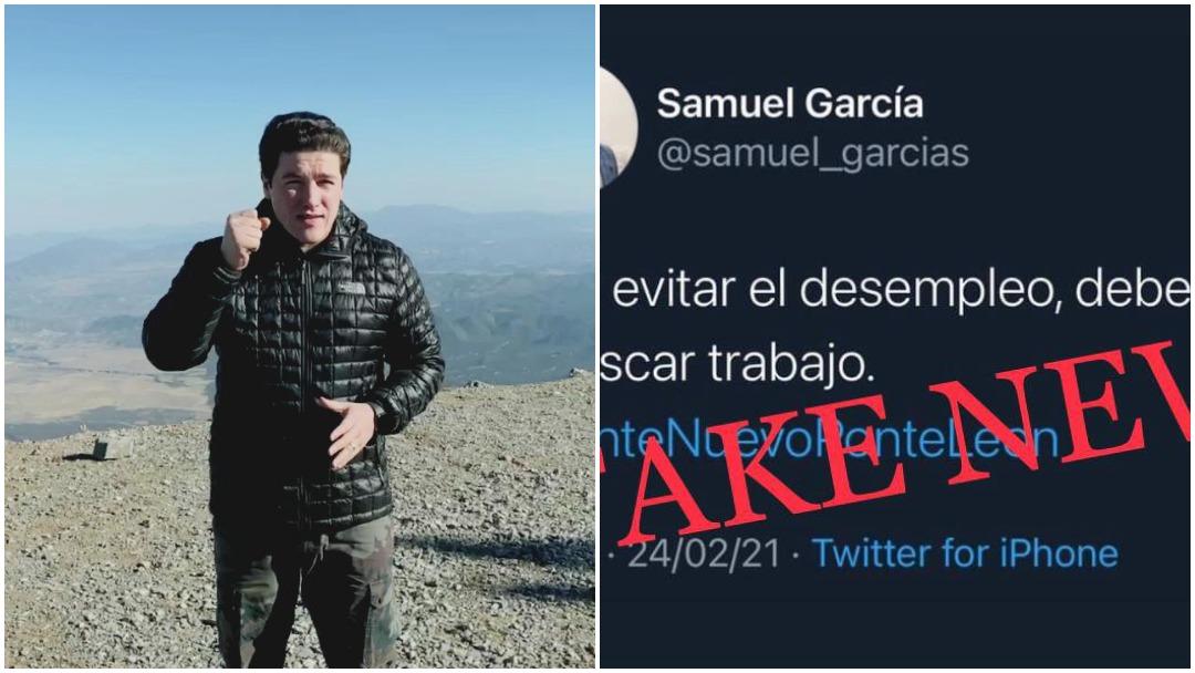 Samuel García desmiente tweet sobre el trabajo y desempleo