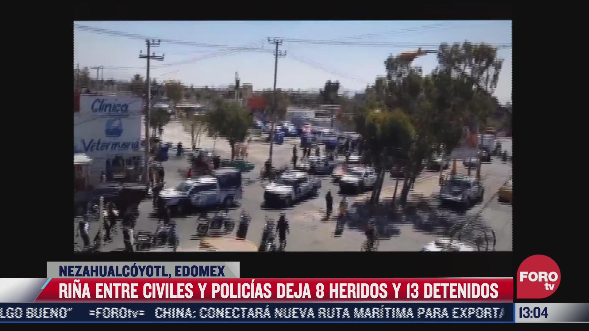 se enfrentan mototaxistas y policias en nezahualcoyotl estado de mexico