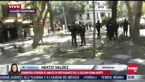 se registra explosion en restaurante de la colonia roma norte cdmx