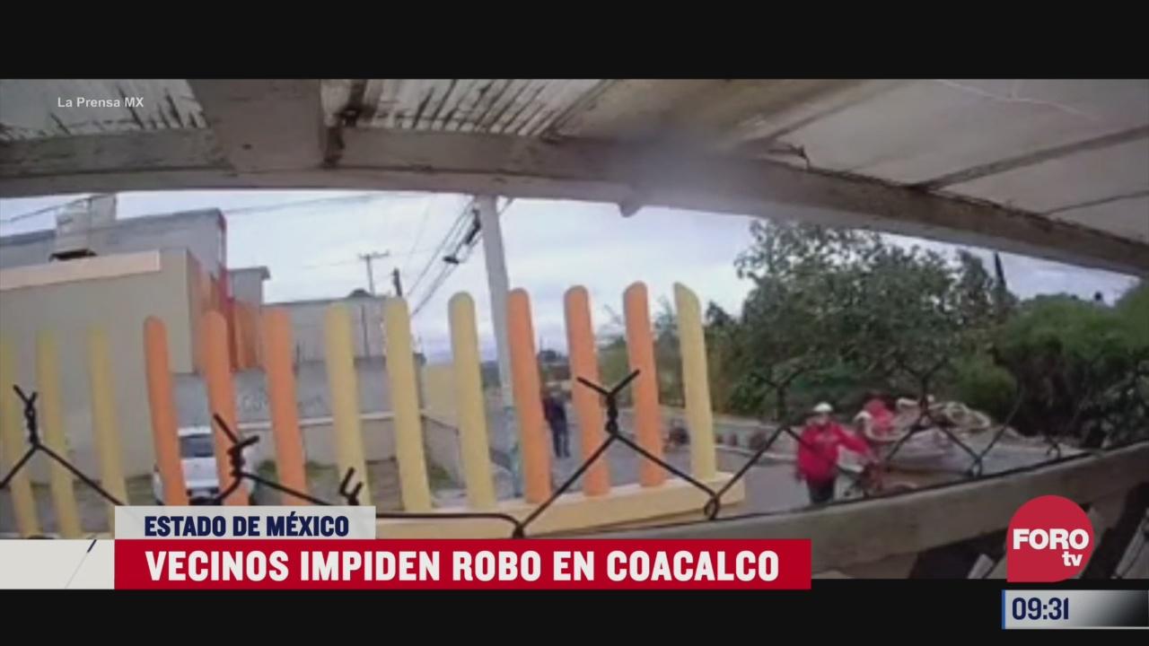 vecinos impiden robo en coacalco estado de mexico
