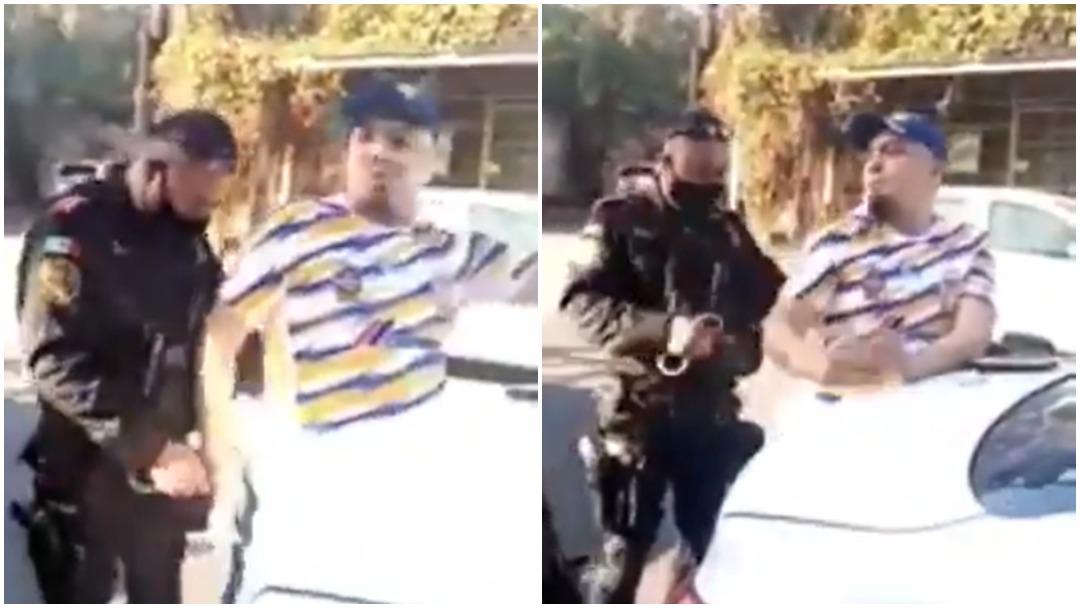 Hombre es detenido por no usar cubrebocas en Monterrey y queda grabado en video