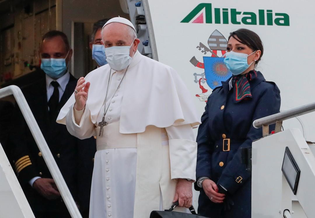 Fotos: Así fue la llegada del papa Francisco a Irak