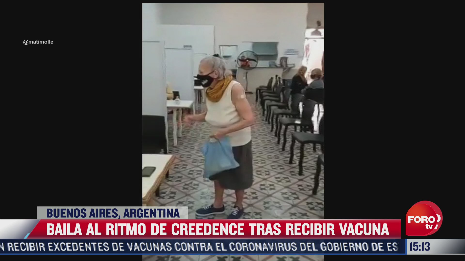 abuelita baila tras recibir vacuna covid en argentina