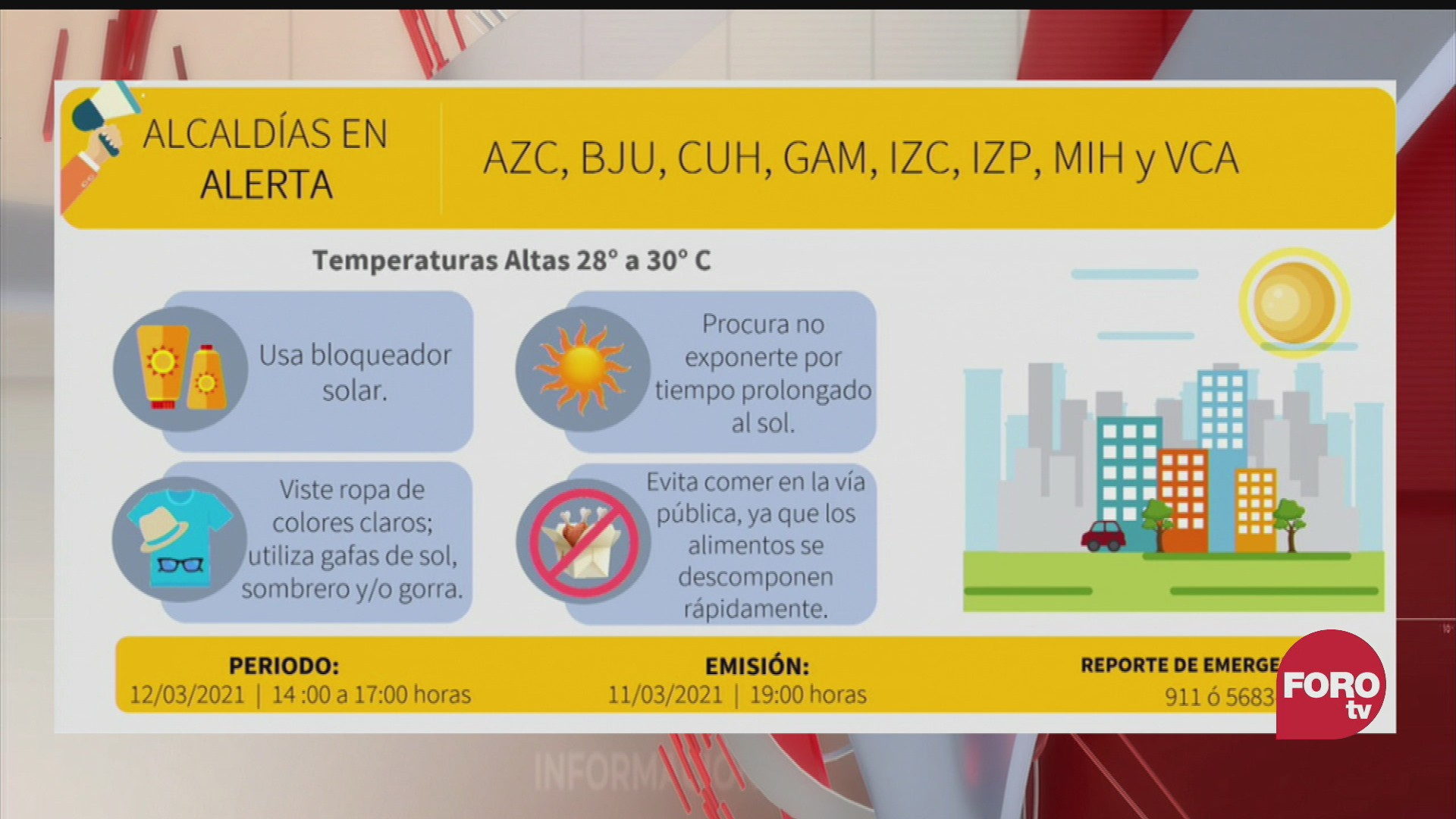 activan alerta en 8 alcaldias de cdmx por altas temperaturas