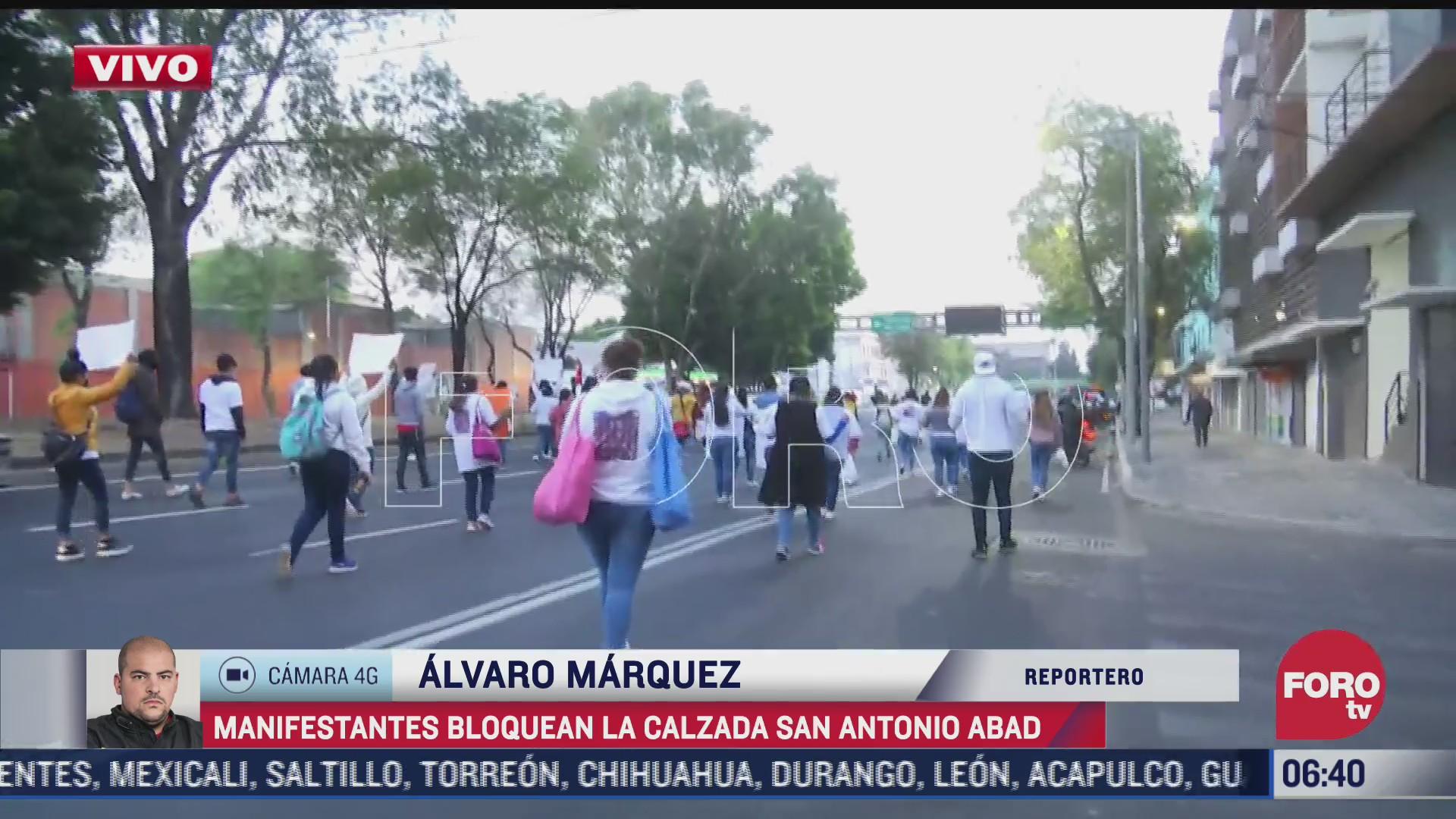afectacion vial es afectada por manifestantes que marchan rumbo al zocalo cdmx