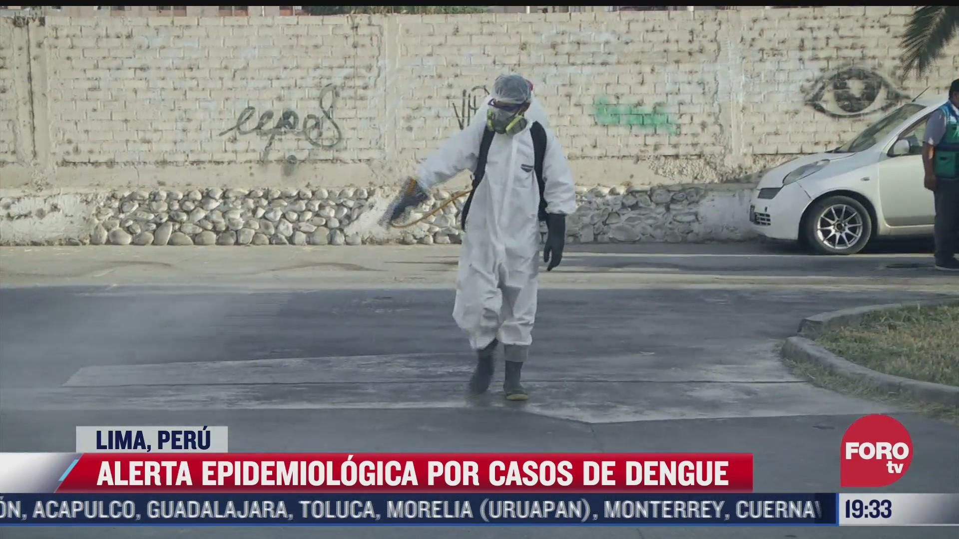 alerta epidemiologica por casos de dengue en peru