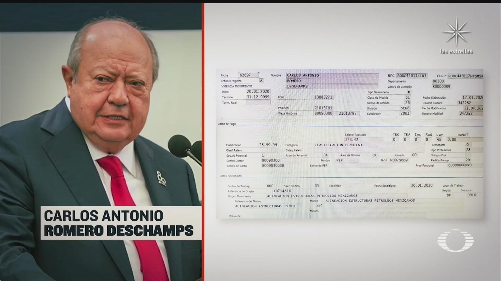 amlo anuncia renuncia de carlos romero deschamps