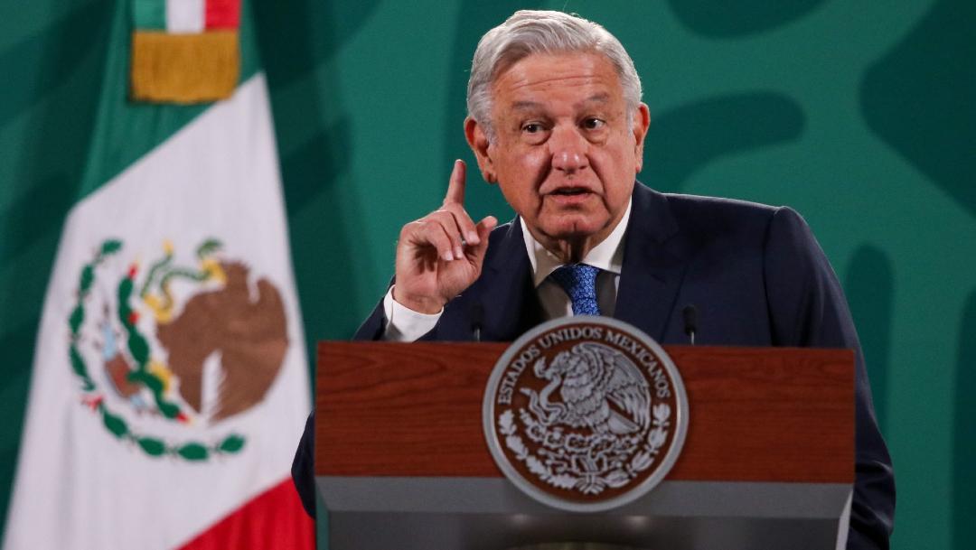 Andrés Manuel López Obrador, presidente de México durante la conferencia matutina en Palacio Nacional. (Foto: Cuartoscuro)