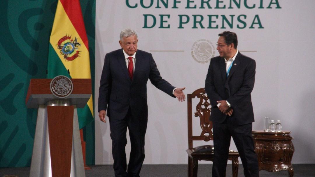 Andrés Manuel López Obrador y Luis Arce