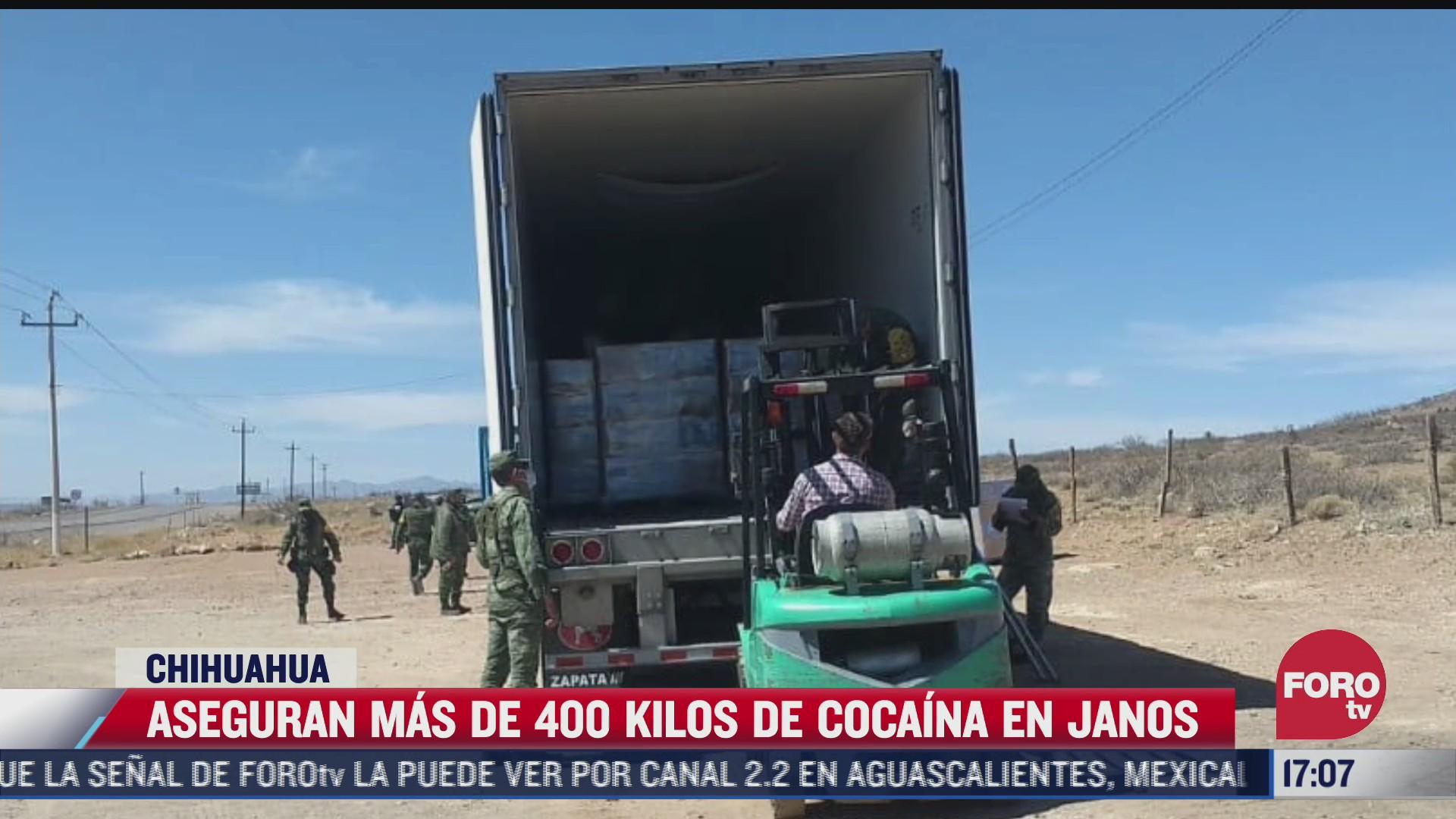 aseguran 400 kilos de cocaina en chihuahua