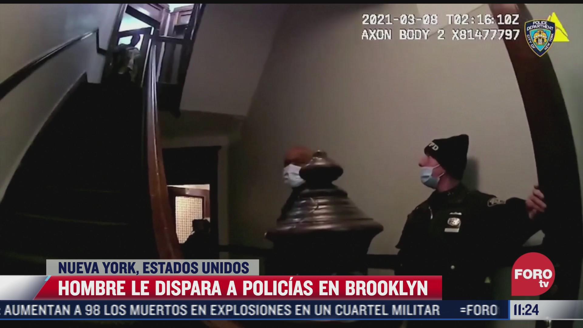 asi le dispara un hombre a policias en nueva york