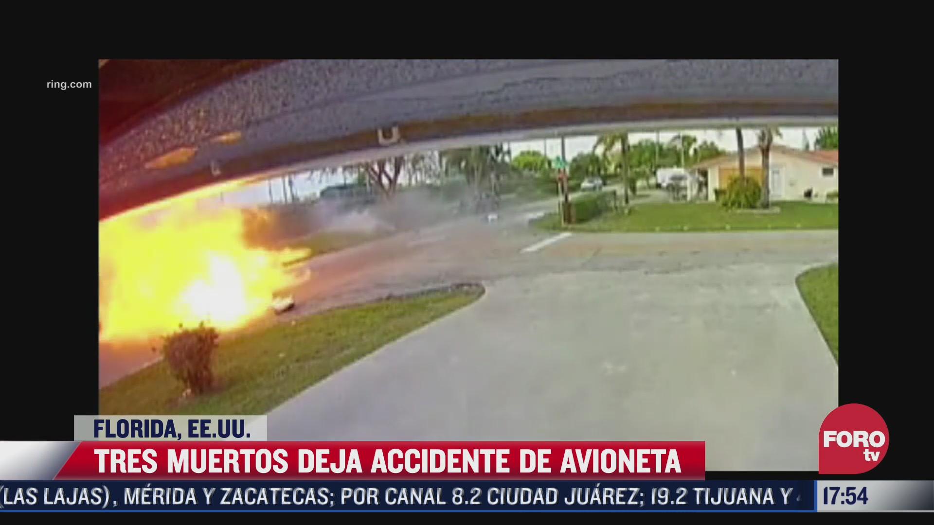 aumentan a tres los muertos por accidente de avioneta en florida