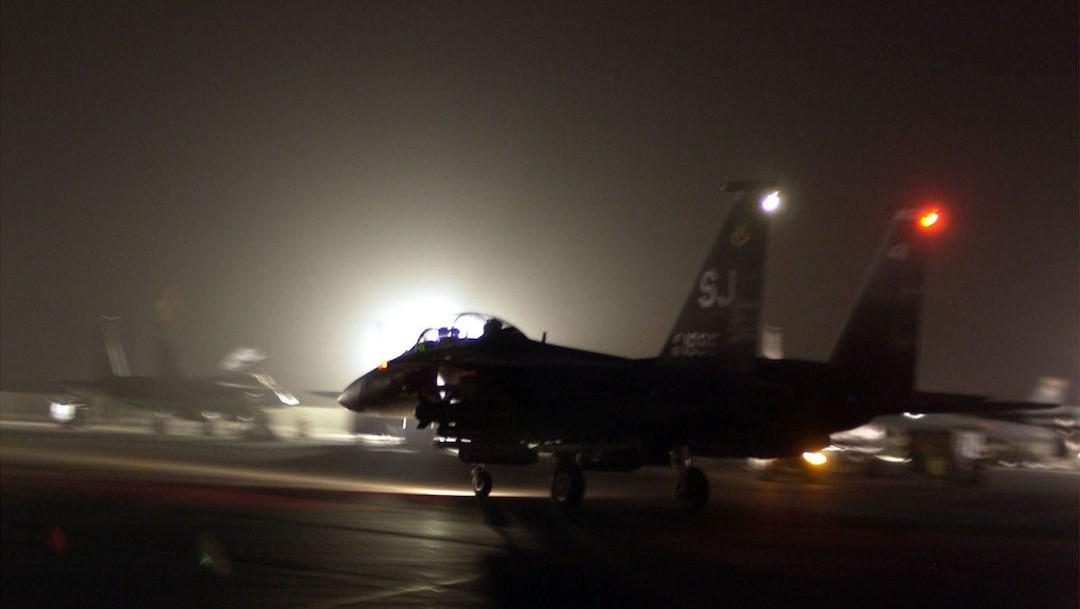 Una areonave estadounidense F-15E Strike Eagle (Getty Images)