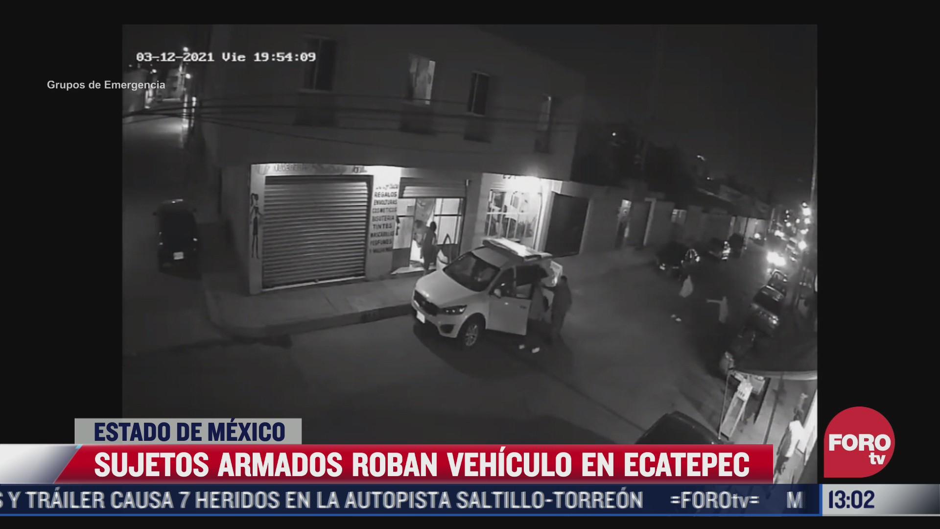 camaras de seguridad graban robo de vehiculo en ecatepec estado de mexico