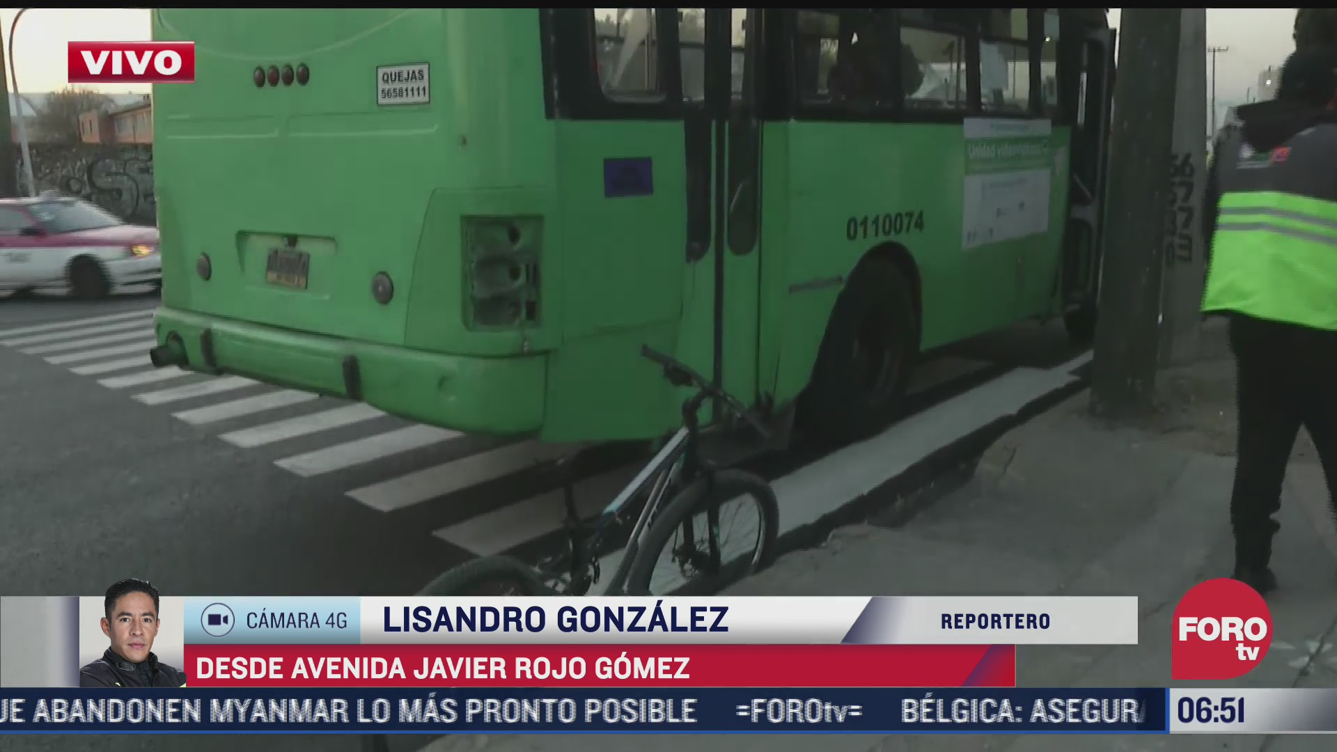 camion de transporte publico atropella a ciclista en avenida rojo gomez cdmx