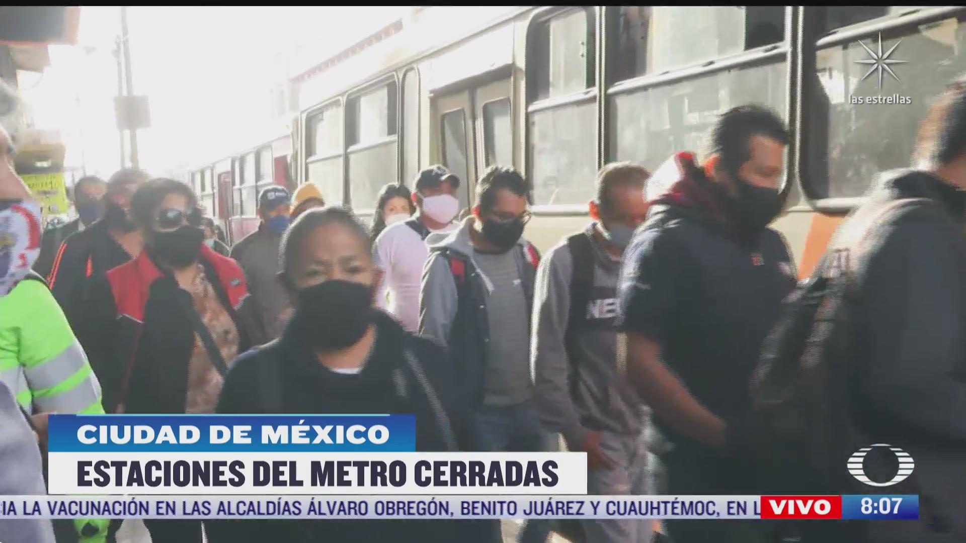 caos por cierre de estaciones de la linea 9 del metro de cdmx