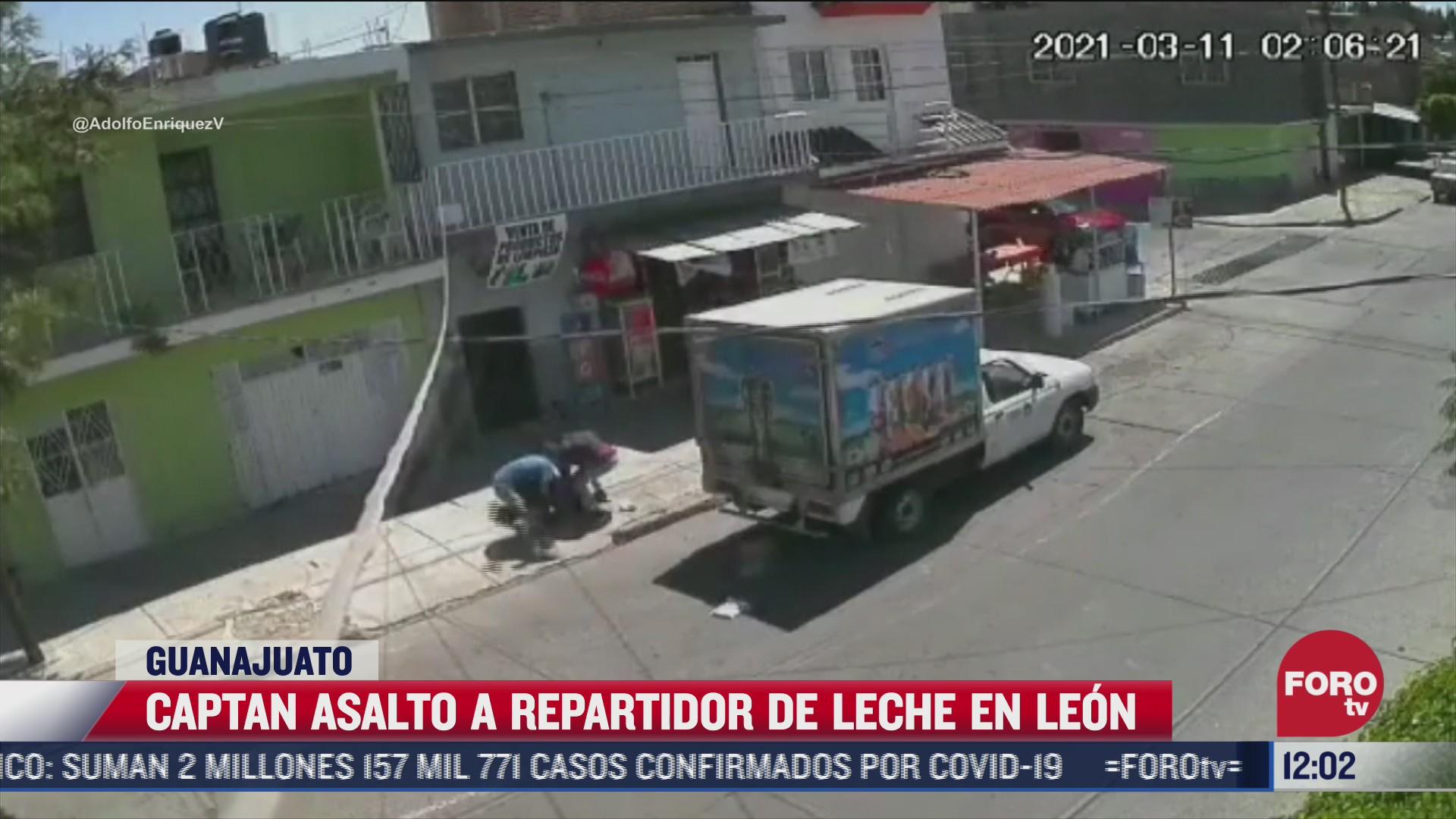 captan asalto de un repartidor de leche en guanajuato