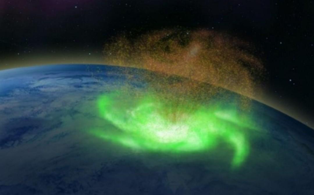 Capturan un huracán espacial sobre la Tierra por primera vez