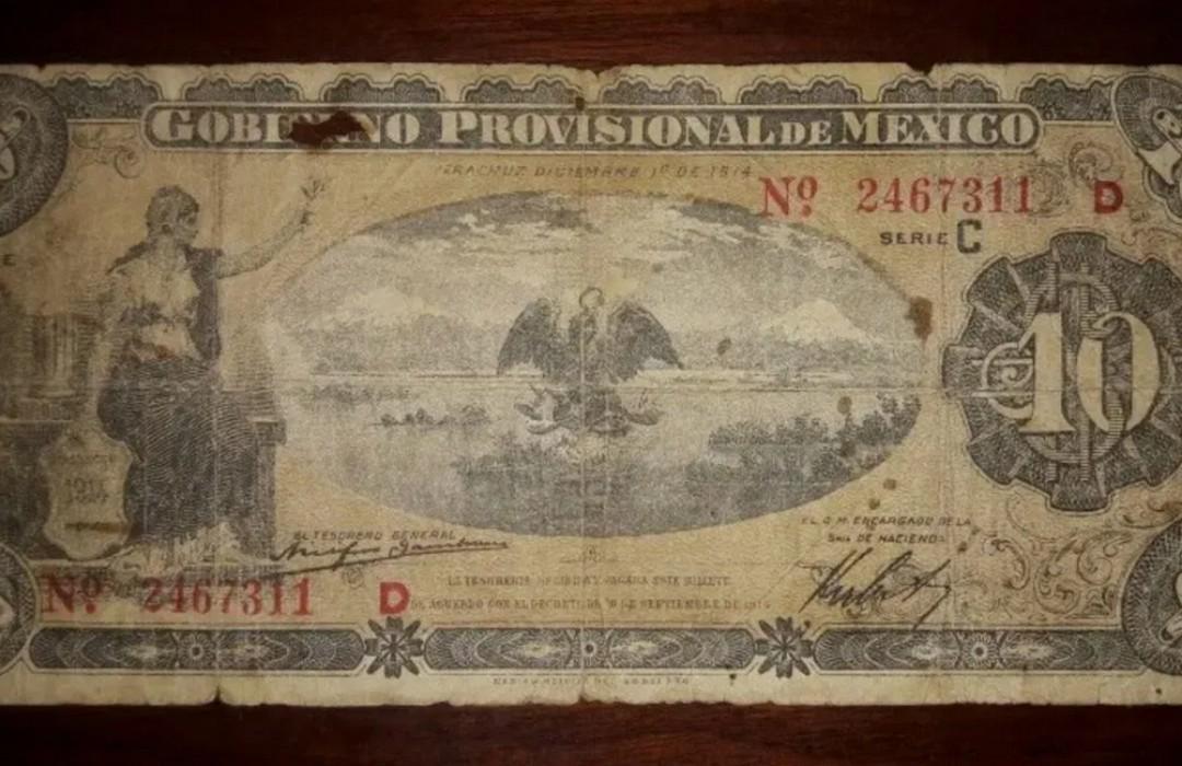 Billete de 10 pesos se vende en más de 8 mil en Internet