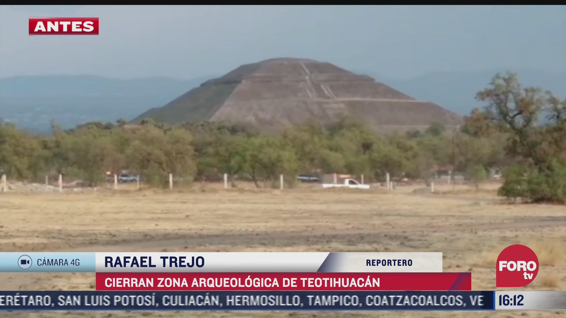 cierran zona arqueologica de teotihuacan